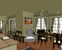 Shingle Style - Dining Bay - CAD