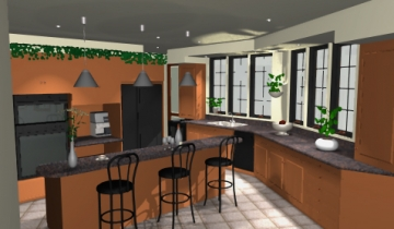 Dramatic Arches - Kitchen - CAD2