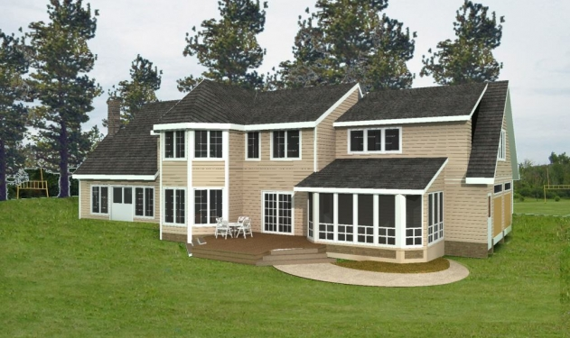 Shingle Style - Rear - CAD3