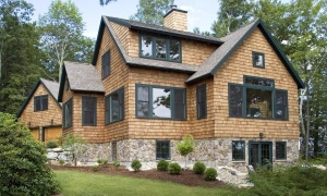 Custom home on Adirondack