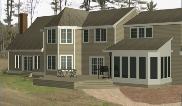 Shingle Style - Rear - CAD2